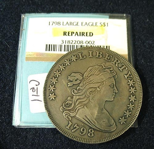 1027: 1798 Bust Dollar XF - repaired
