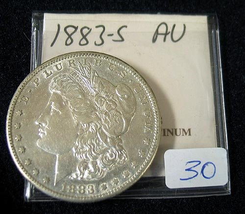 1030: 1883-S Morgan Silver Dollar AU
