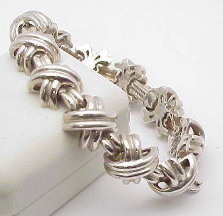 4008: Signed Tiffany Sterling Silver Bracelet