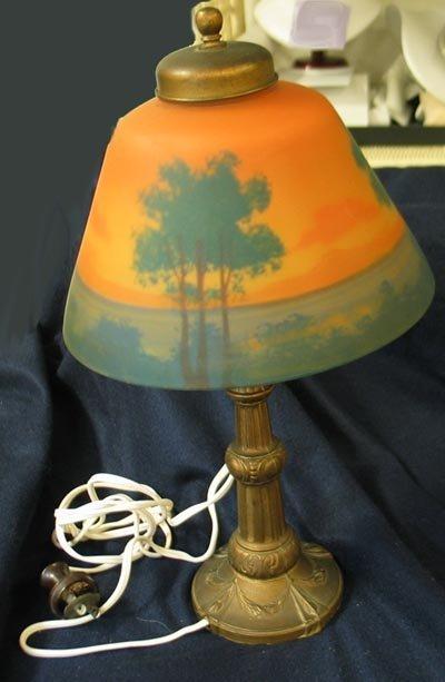 4014: Lamp Reverse Painted