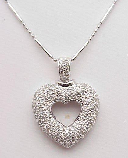 4021: 18kt Gold Diamond Heart Pendant