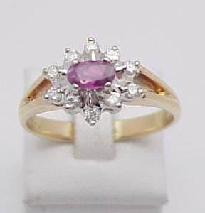 6007: Ruby & Diamond Cocktail Ring