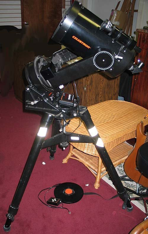 "6087: Telescope Celestron Celestar 8"" and Extras"
