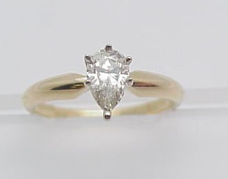 9: Pear Shape Diamond Engagement Ring