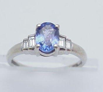 11: Tanzanite & Diamond Fashion Ring 14kt