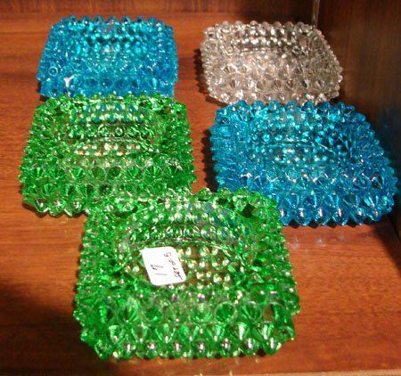 17: 5 Depression Glass Individual Salts
