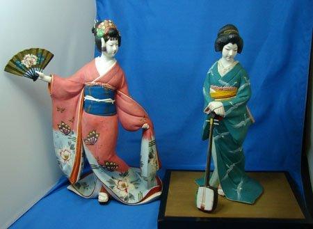 34: 2 Vintage Japanese Hakata Geisha Dolls