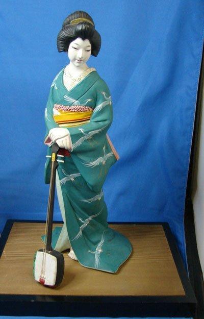 34: 2 Vintage Japanese Hakata Geisha Dolls - 3