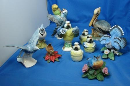 7: Box lot 11 Porcelain Birds Goebel etc.