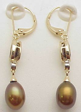 12: 14k pear/smoky quartz earrings