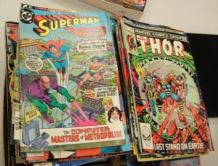 21: Lot of 130 D. C. Marvel Comic Books