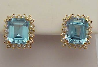 23: 14k Blue Topaz earrings