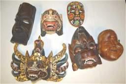 Lot Of Tribal Masks