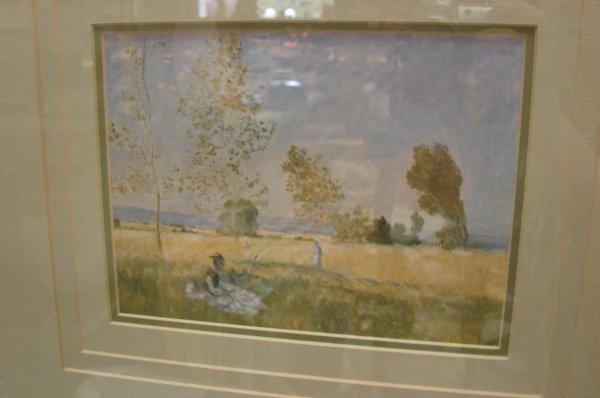 """160: Framed Monet print """"Summer"""" Ethan Allen - 2"""
