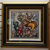 99 Colorful Ltd Ed Lithograph of Clown