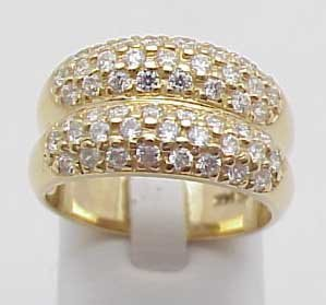 2: Pave Double Domed Diamond Ring