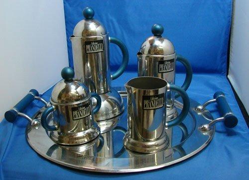 4: Art Deco Italian Coffee Service w/tray