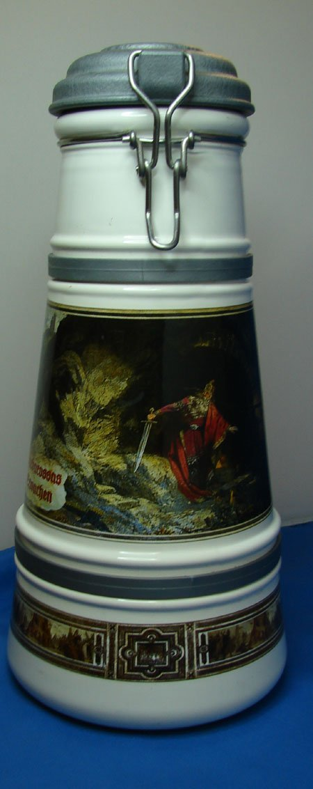 """5: 12"""" Tall German Stein with lid"""