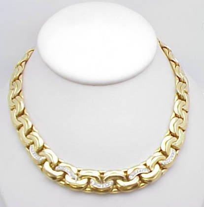 20: lady's 18ky fancy link diamond necklace