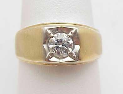 24: Man's Solitaire Diamond Ring