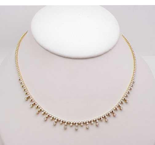 "22: `18kyg diamond necklace 16"" length"