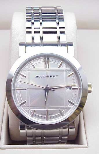 75: Men's Burberry stainless watch