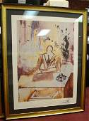 147 Dali The Business Man Print Signed Frmd