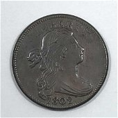 1802 Draped Bust Large Cent AU About Uncirculated