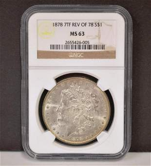1878 7TF Rev of 78  NGC MS63 Morgan Silver Dollar