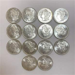 1904-O Morgan Silver Dollars 14pc lot BU63 + Nice