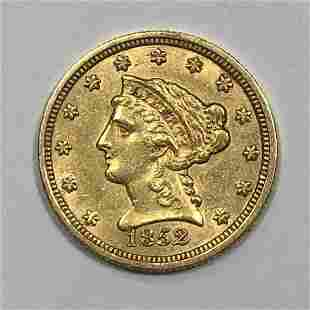 1852 $2.5 Liberty Gold Coin XF