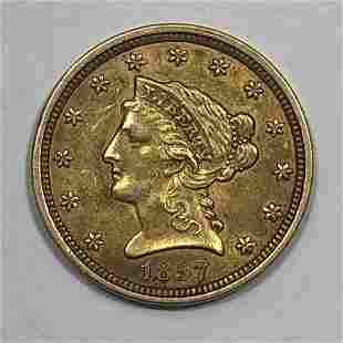 1857 $2.5 Liberty Gold Coin XF