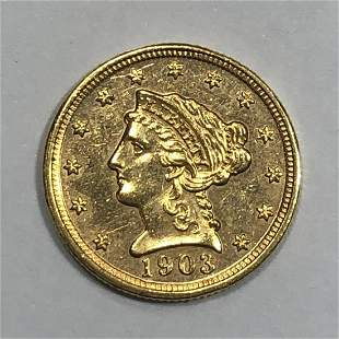 1903 $2.5 Liberty Gold Coin BU Cleaned