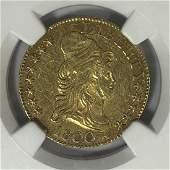 1800 $5 Capped Bust Gold Half Eagle NGC AU55
