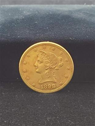 1898 $10 Liberty Gold Coin XF