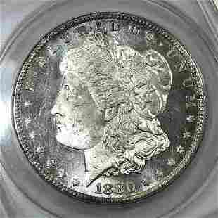 1880-S Morgan Silver $1 VAM-12 Cameo ANACS MS64 PL