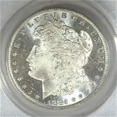 1884O Morgan Silver 1 Cameo ANACS MS65 PL