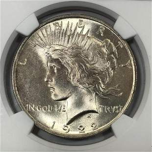 1922 Peace Silver $1 NGC MS65