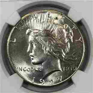 1927 Peace Silver Dollar NGC MS64
