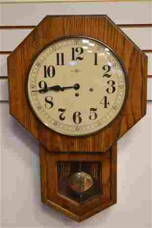 Howard Miller Regulator Oak Wall Clock M# 612533