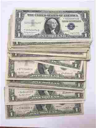 Pack 50 $1 Silver Certificate STAR Currency Notes