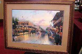 Framed Thomas Kinkade Main Street Celebration