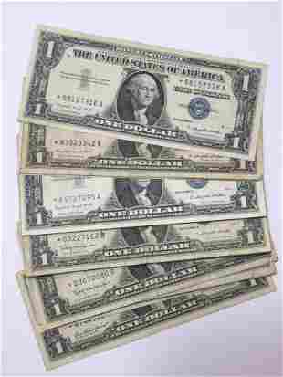Pack 25 $1 Silver Certificate STAR Currency Notes