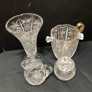 Lot Of Cut Crystal Glass Pieces