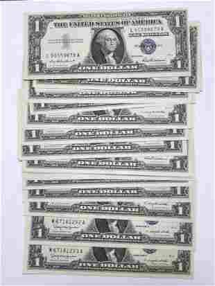 25 $1 Silver Certificates in Crisp Uncirculated CU