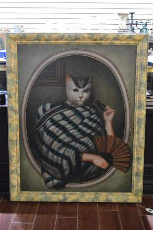 Large Sitting Cat Print/Painting
