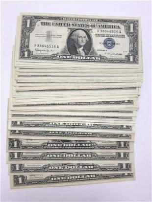 50 $1 Silver Certificates Choice AU to Crisp UNC