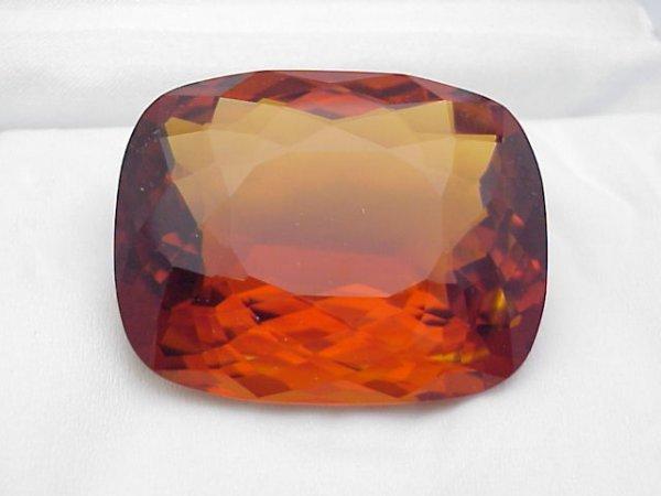 5: 261ct museum size orange cushion cut citrine