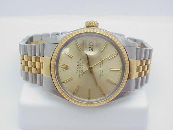 19: Men's Rolex 2 tone Datejust watch
