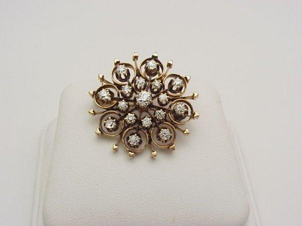 20: Lady's 14kyg diamond brooch